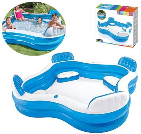Schwimm-Center Family Lounge Pool mit 4 Sitzecken 229 x 229 cm