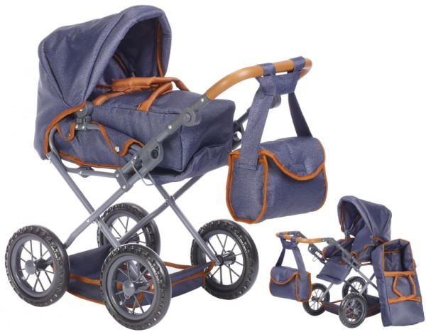 Puppenwagen Ruby (Dark Blue-Brown)