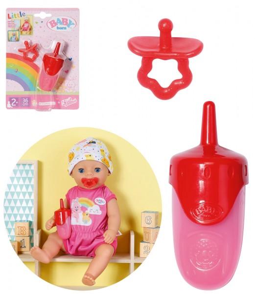 My Little Baby Born Flasche & Schnuller Set (Pink-Rot)