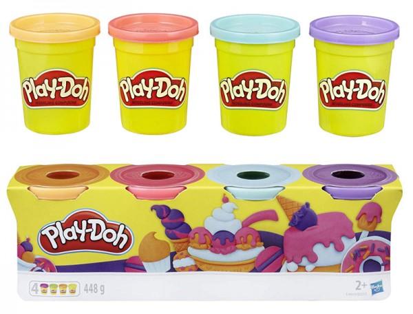 Play-Doh 4er Töpfchen Pastell