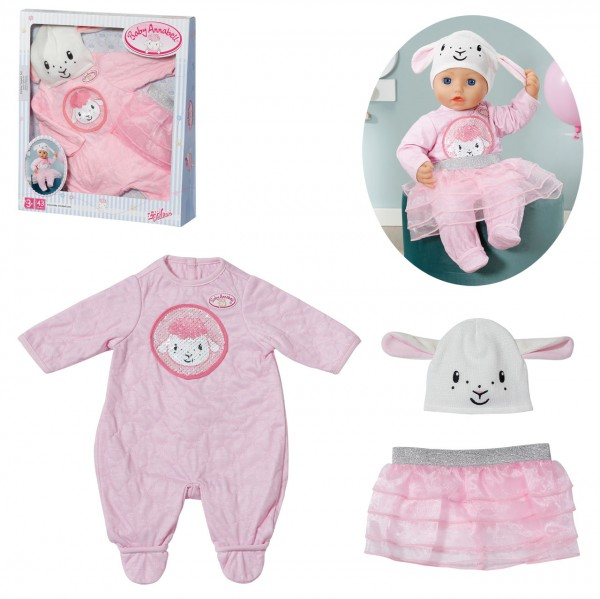 Baby Annabell Deluxe Glitzer Set 43 cm (Rosa)