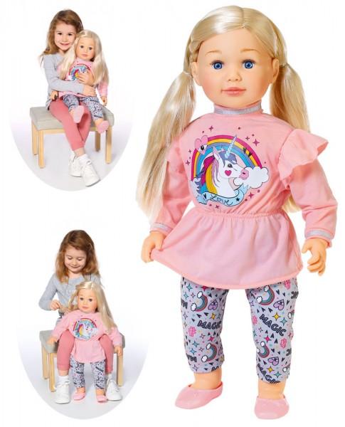 Große Puppe Sally 63 cm mit Haaren (Blond)