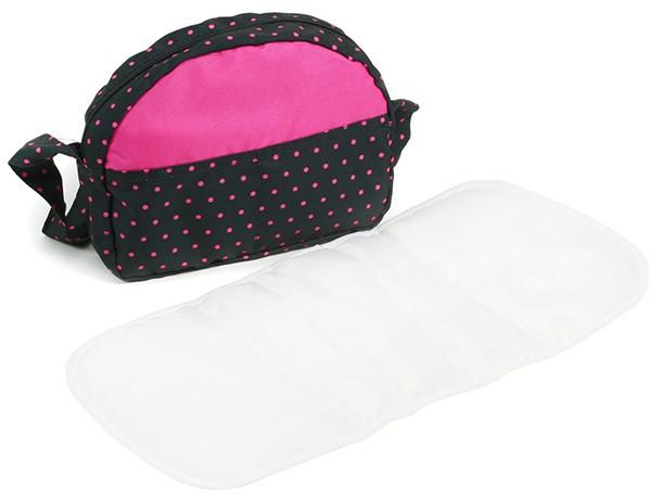 Wickeltasche für Puppenwagen (Dots Navy-Pink)