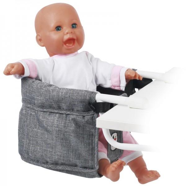 Puppen-Tischsitz (Jeans Grey)