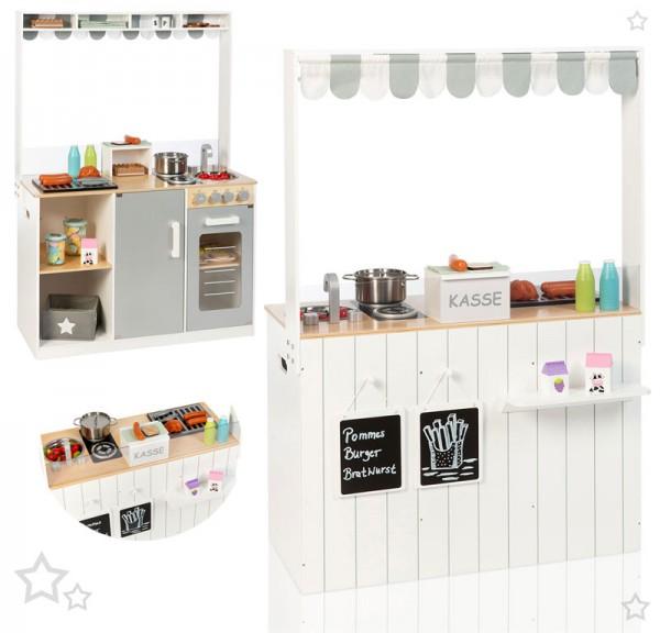 Küchen- & Kaufladen-Kombi Street Food Kitchen (Weiß-Grau)