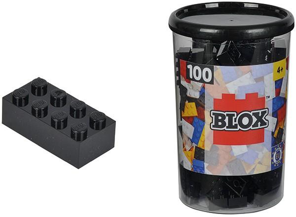 100 Blox Steine in Dose (Schwarz)