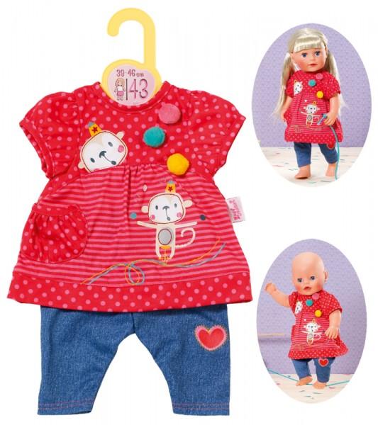 Dolly Moda Hängerchen mit Hose 43 cm (Rot-Blau)