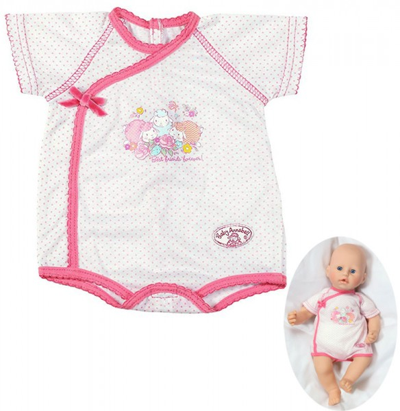 Baby Annabell Unterwäsche Baby Body 46 cm (Weiß-Pink)