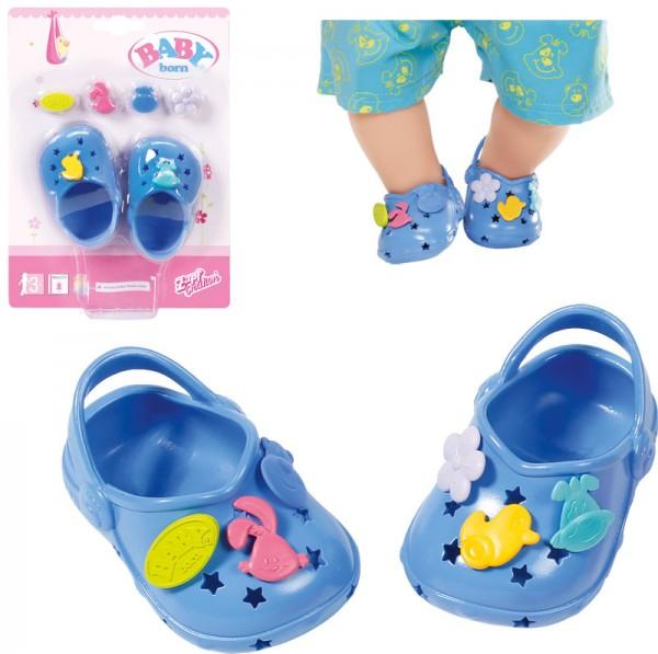 Baby Born Clogs mit Pins 43 cm (Blau)