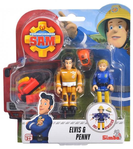 Feuerwehrmann Sam 2er Figuren-Set III Elvis und Penny