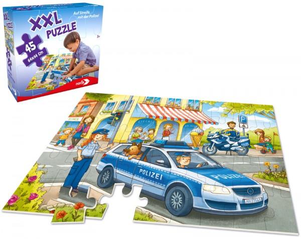 XXL Bodenpuzzle Auf Streife mit der Polizei mit 45 großen Teilen