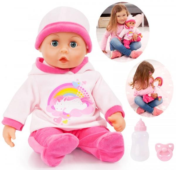 Funktionspuppe First Words Baby Einhorn 38 cm (Rosa-Pink)