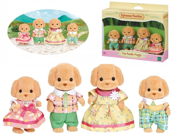 Sylvanian Families Toy-Pudel Familie Wuschl