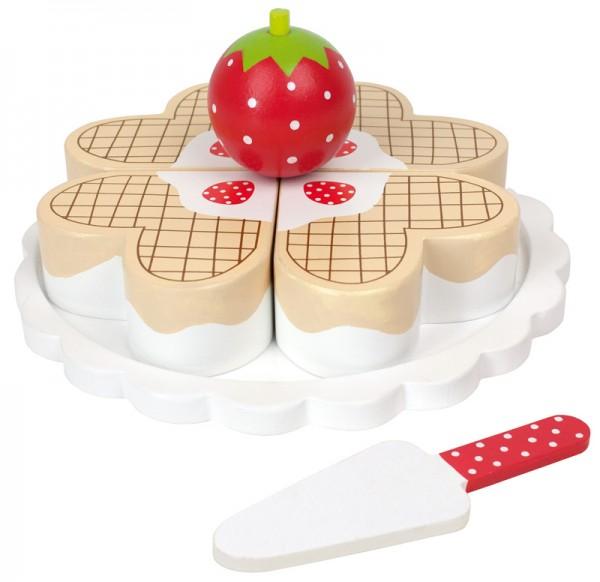 Heißer Waffel-Kuchen aus Holz