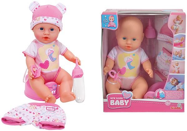 New Born Baby Kleine Puppe mit Funktionen und Kleidungsset 30 cm