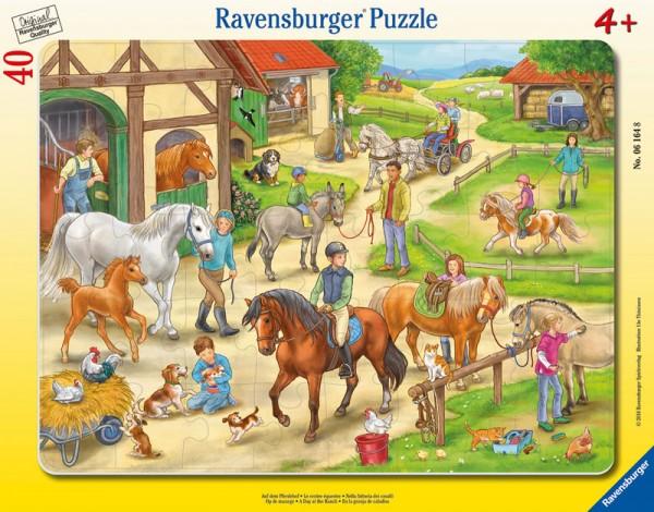 Rahmenpuzzle Auf dem Pferdehof mit 40 Teilen