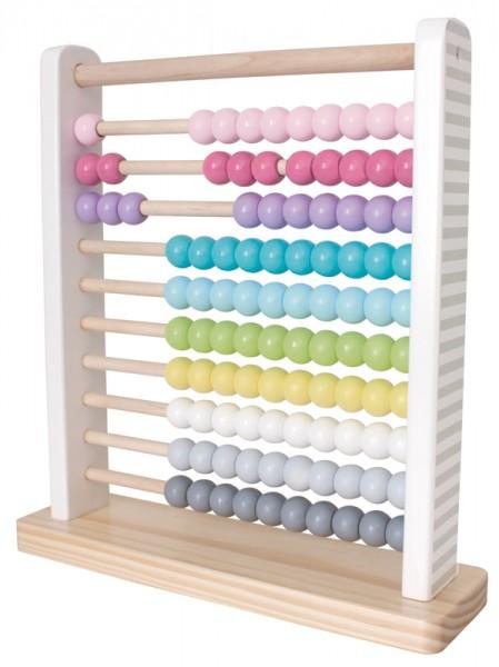 Rechenschieber Abacus aus Holz (Pastell)