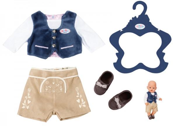 Baby Born Trachten-Outfit Junge 43 cm (Blau-Braun)