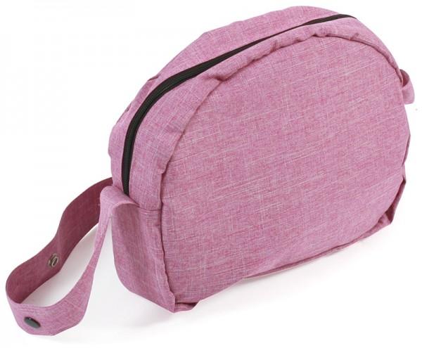 Wickeltasche für Puppenwagen (Jeans Pink)