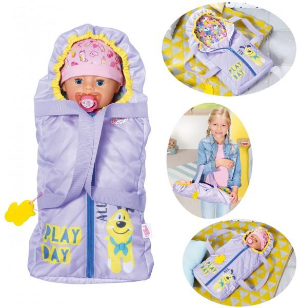 Baby Born Schlaf- und Tragetasche 43 cm (Lila)
