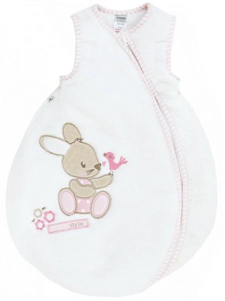 Nicki Winterschlafsack Bunny Gr. 62/68 (Weiß-Rosa)