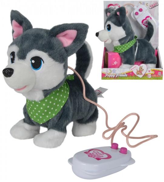 Chi Chi Love Puppy Friends Husky mit Funktion (Grau)