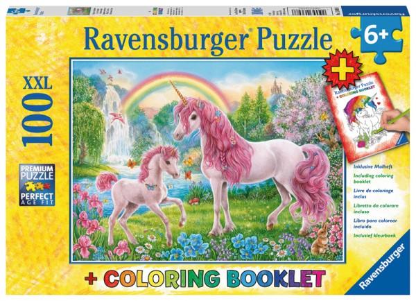 Kinderpuzzle und Malbuch Magische Einhörner ab 6 Jahren