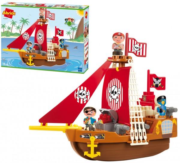 Abrick Piratenschiff mit 2 Piraten und Papagei