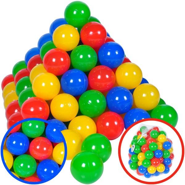 100 Spielbälle im Netz (Bunt)