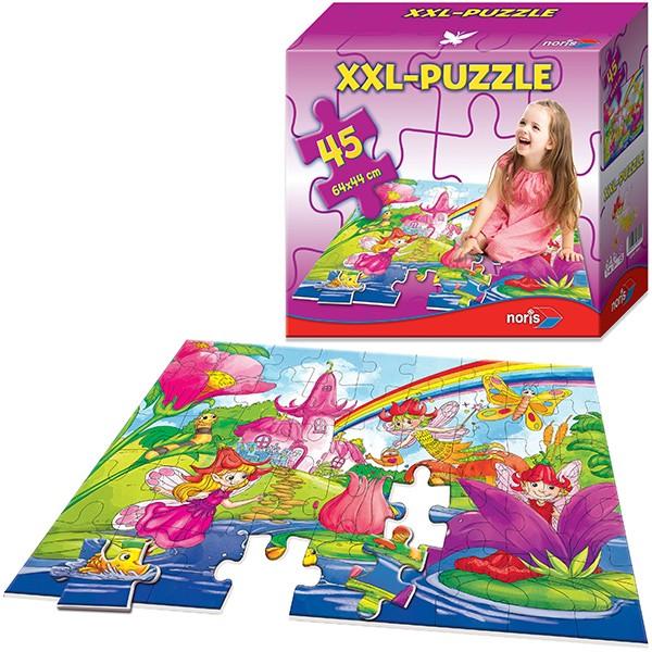 XXL Bodenpuzzle Feenland mit 45 großen Teilen