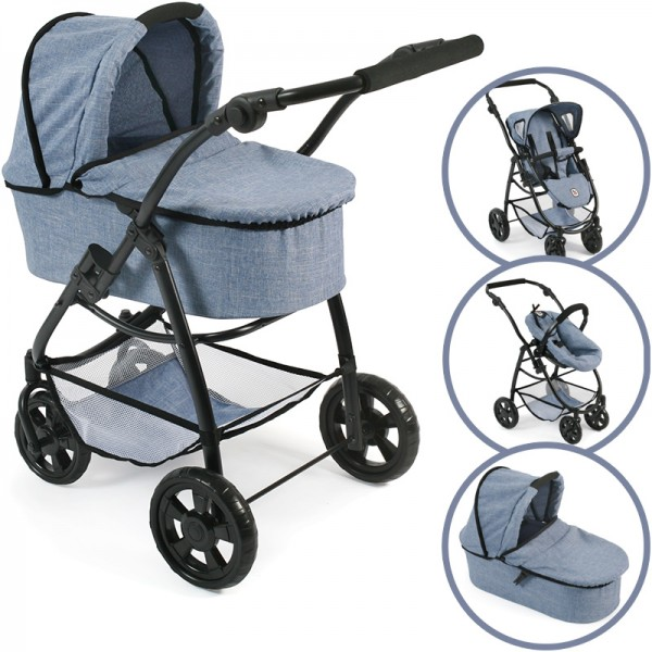 Puppenwagen Emotion All In 3in1 (Jeans Blue)