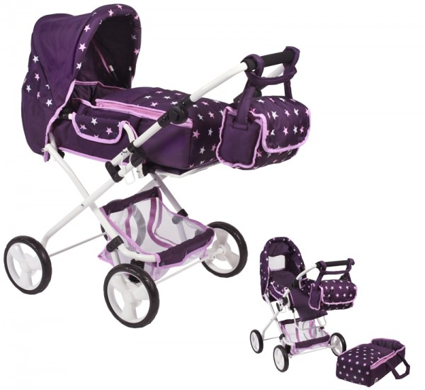 Puppenwagen Bambina (Stars Lila)