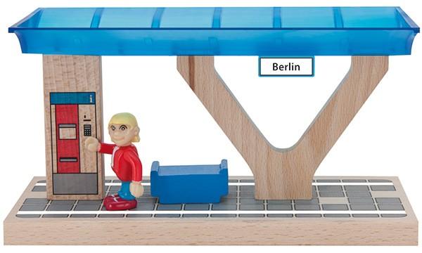 Eisenbahn-Set Bahnsteig