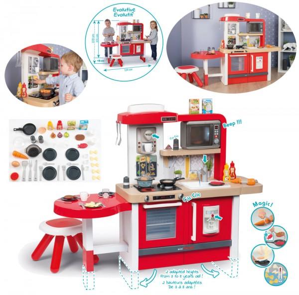 Mini Tefal Evo Gourmet Küche Spielküche mit Zubehör (Rot)