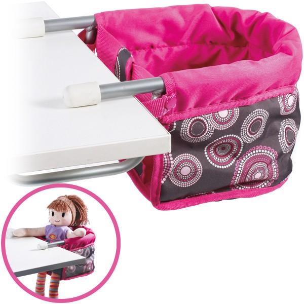 Puppen-Tischsitz (Hot Pink Pearls)