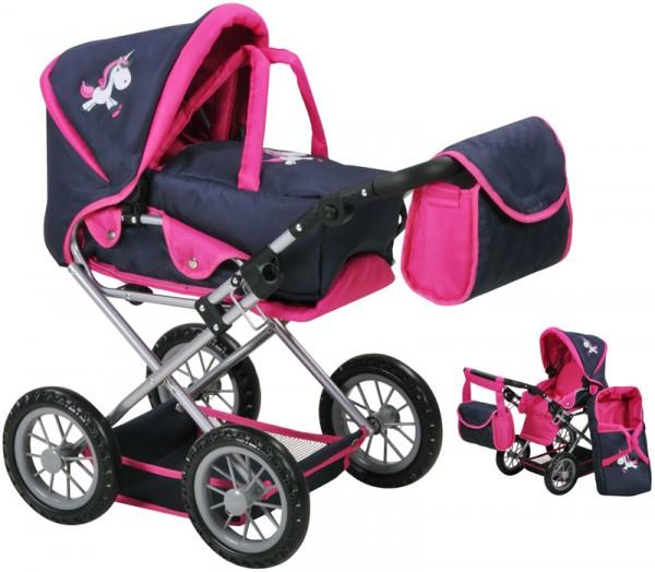 Puppenwagen Ruby Uma das Einhorn (Blau-Pink)