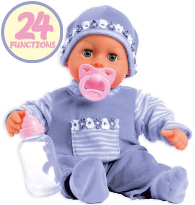 Funktionspuppe First Words Baby 38 cm (Lila)