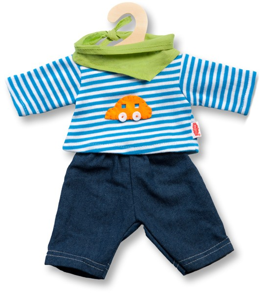Kleidungsset Jeans mit Streifenshirt 35-45 cm