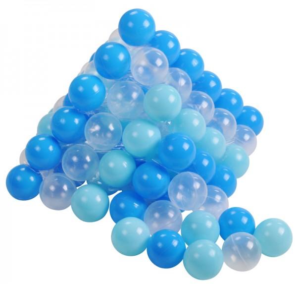 100 Spielbälle (Soft Blau-Transparent)