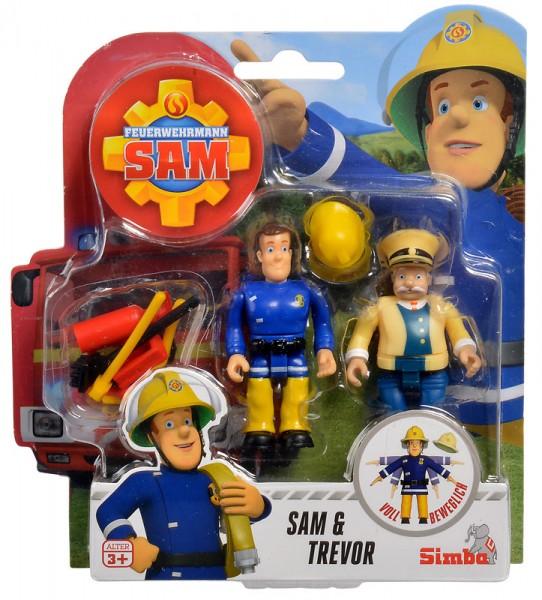 Feuerwehrmann Sam 2er Figuren-Set III Sam und Trevor
