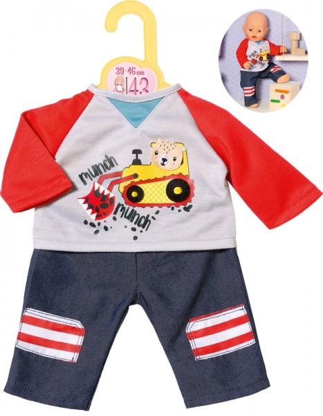Dolly Moda Hose mit Sweatshirt 39 - 46 cm (Blau-Rot)