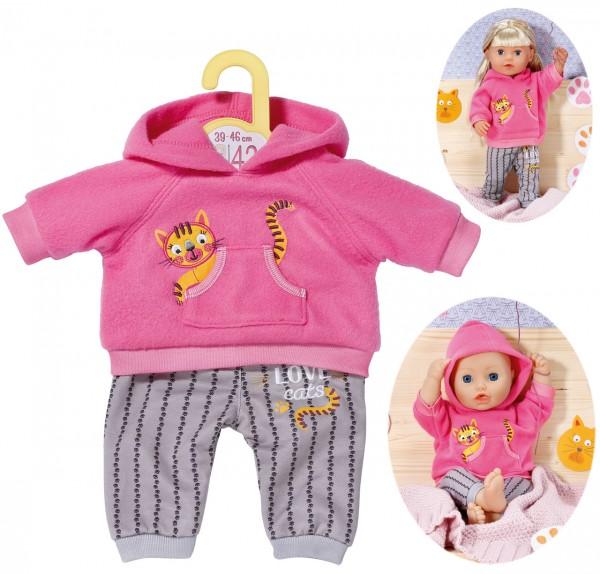 Dolly Moda Sport-Outfit Girl 43 cm (Pink-Grau)