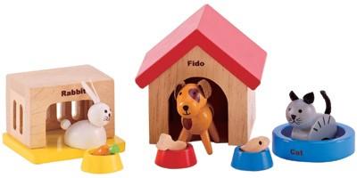 Haustier-Set fürs Puppenhaus (Bunt)