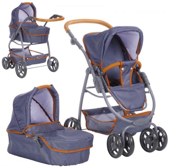 Puppenwagen Coco 2in1 (Dark Blue-Brown)