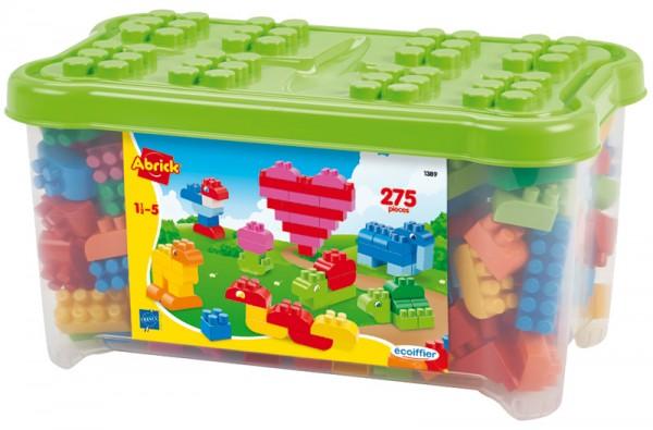 Abrick Große Bausteine Box mit 275 Bausteinen