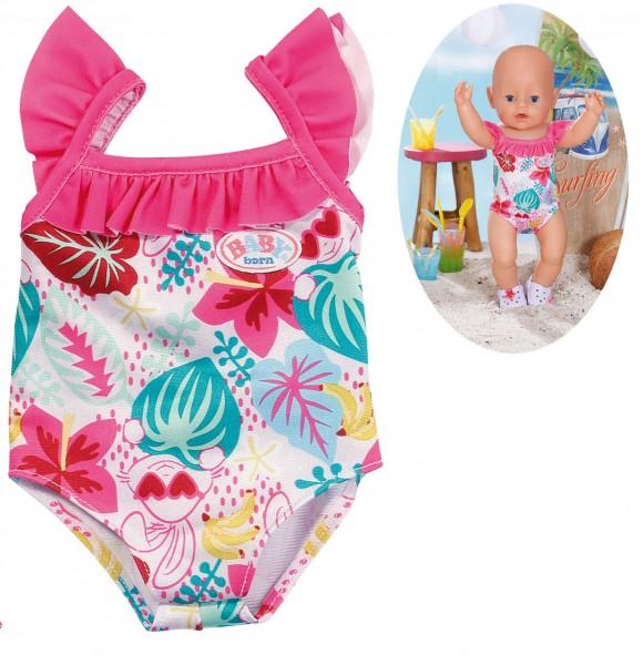 Baby Born Holiday Badeanzug Hase 43 cm (Pink-Bunt)