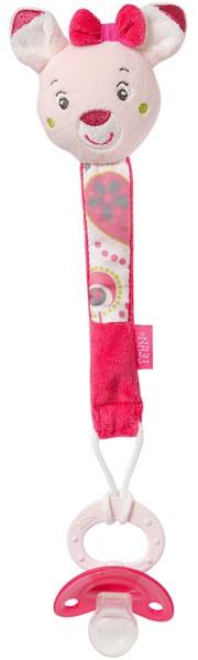 Sweetheart Schnullerkette Rehkitz (Rosa-Pink)