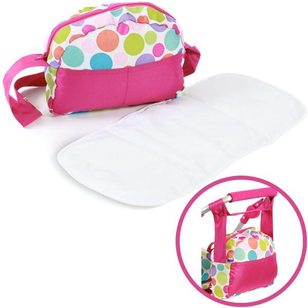 Wickeltasche für Puppenwagen (Pinky Bubbles)