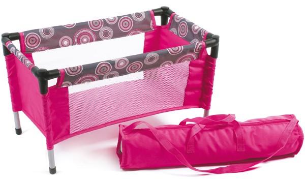 Puppenreisebett mit Tasche (Hot Pink Pearls)