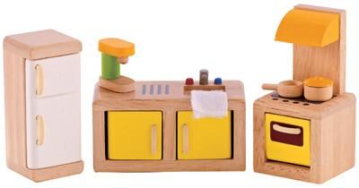 Puppenhaus Moderne Küche (Natur-Gelb)